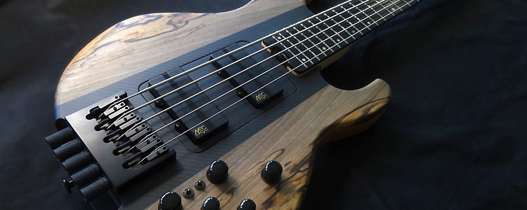 Session Bass 5 strings (Headless) | Spalted walnut tops
